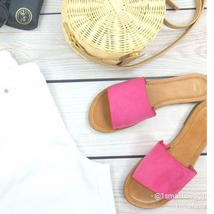 GAP Summer slides shocking pink 8 NWOT